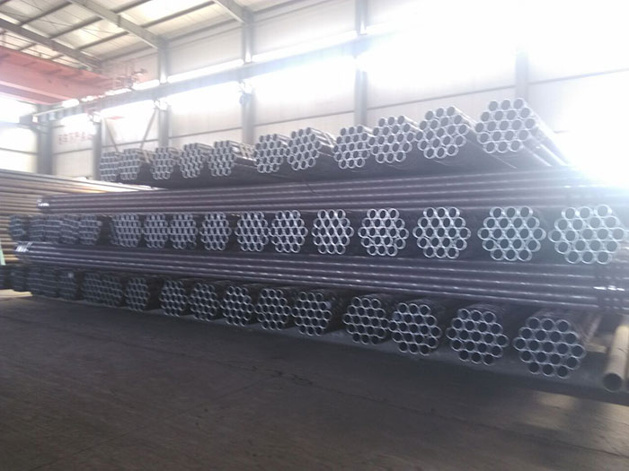 Seamless steel pipe for fluid transport1