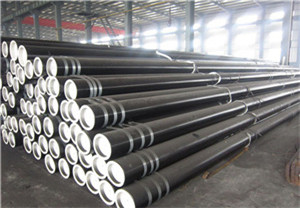Seamless steel pipe for fluid transport