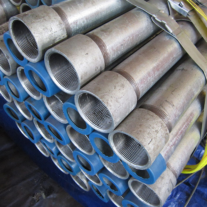 Hot Galvanized Pipes with Thread Coupling