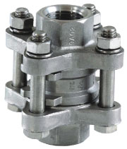 3pc spring vertical check valve
