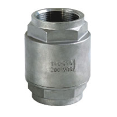 2pc spring vertical check valve