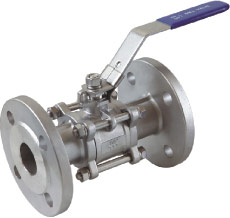 3pc flanged ball valve (DIN)