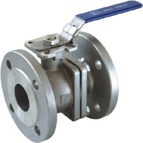 2pc flanged ball valve with direct mounting pad (DIN)