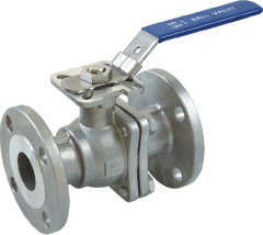 2pc flanged ball valve with direct mounting pad (ANSI)