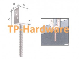 Column Shoe Type C Post Support And Post Base & Post Anchors