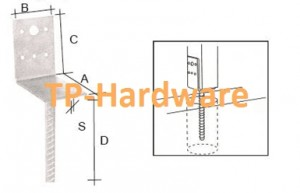 Column Shoe Type L Post Support And Post Base & Post Anchors